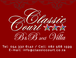 Classic Court B&B and Villa | Accommodation in Upington